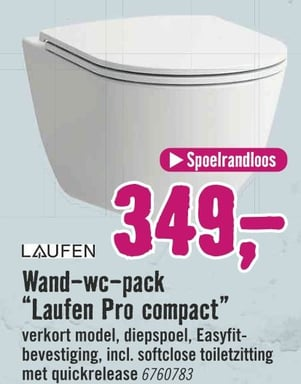 """Wand-wc-pack """"Laufen Pro compact"""""""
