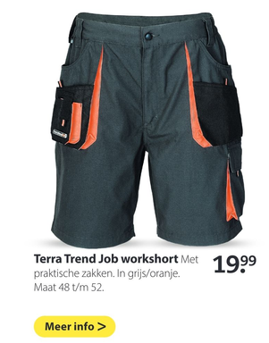 Terra Trend Job workshort