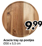 Acacia tray op pootjes