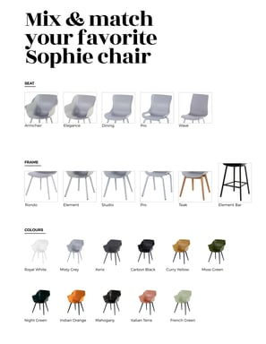 Mix & match your favorite Sophie chair