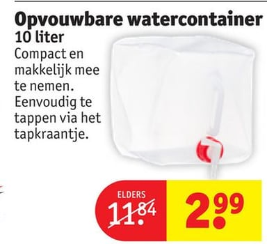 Opvouwbare watercontainer