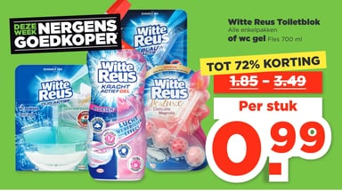 Witte Reus Toiletblok of wc gel