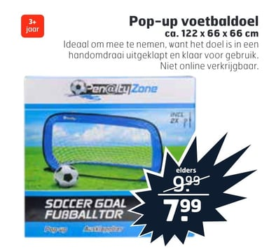 Pop-up voetbaldoel