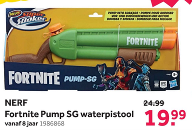 NERF Fortnite Pump SG waterpistool