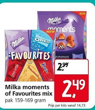 Milka Moments Of Favourites Mix