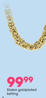 Stalen goldplated ketting