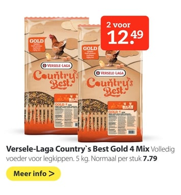 Versele-Laga Country`s Best Gold 4 Mix