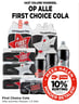 Op Alle First Choice Cola