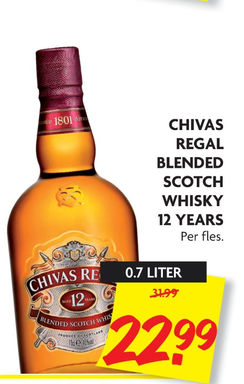 Chivas Regal Blended Scotch Whisky 12 Years