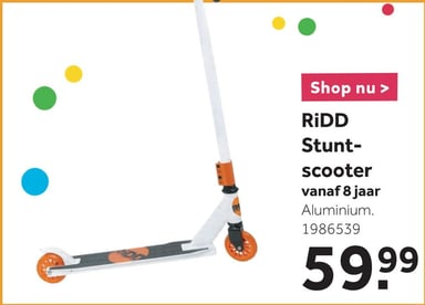 RiDD stuntscooter - wit