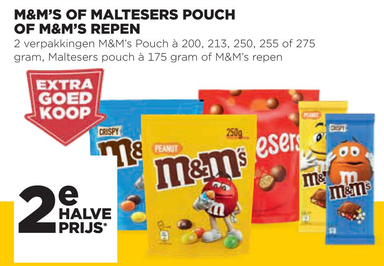 M&M's Of Maltesers Pouch Of M&M's Repen