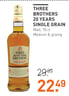 Three Brothers 20 Years Single Grain 70CL Whisky
