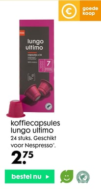 koffiecapsules lungo ultimo
