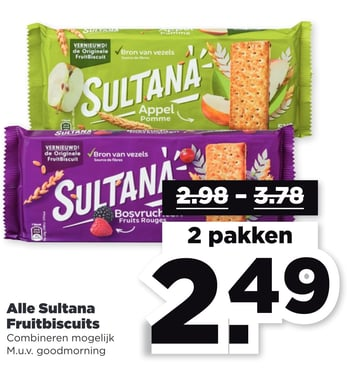 Alle Sultana Fruitbiscuits ISC