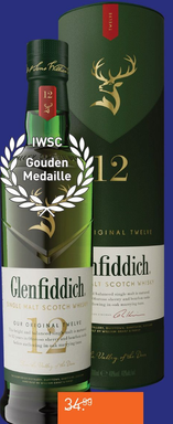 Glenfiddich 12 Years 70CL Whisky