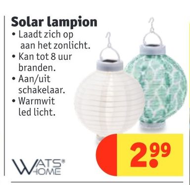 Wats Home Solar lampion