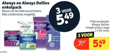 Always en Always Dailies enkelpack