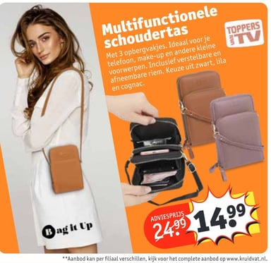Multifunctionele schoudertas