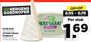 PLUS Brie of Heks'nkaas Origineel