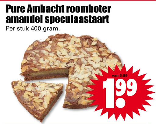 Pure Ambacht roomboter amandel speculaastaart