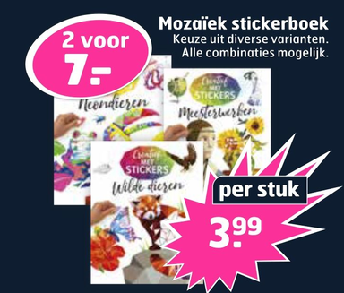 Mozaïek stickerboek
