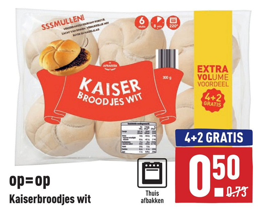 Kaiserbroodjes wit