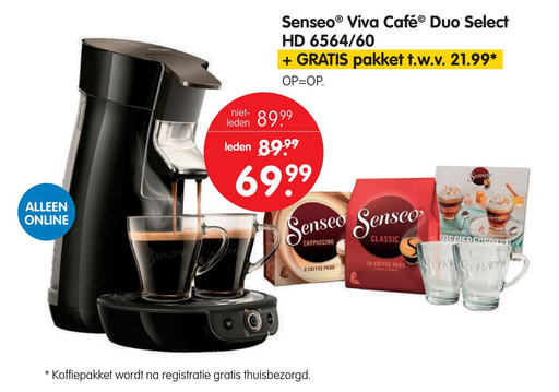 Senseo® Viva Café Duo Select HD 6564/60