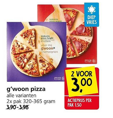 g'woon pizza