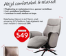 Relaxfauteuil Benoni in stof Ranch