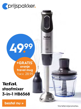 Tefal staafmixer 3-in-1 HB6568