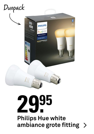 Philips Hue white ambiance grote fitting