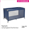 Topmark campingbed Charlie blue