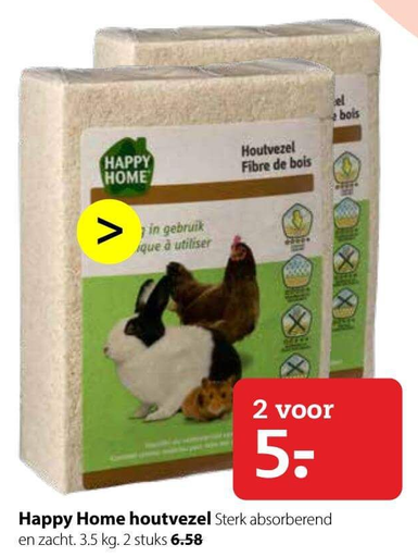 Happy Home houtvezel folder aanbieding