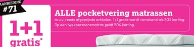 Alle Pocketvering Matrassen
