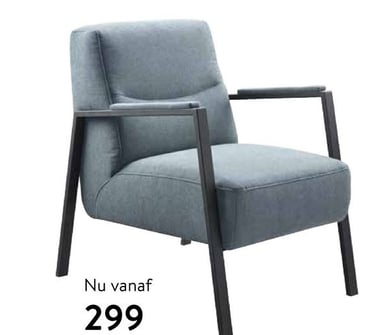 Fauteuil Safira in stof