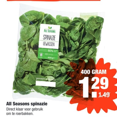 All Seasons spinazie