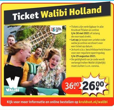 Walibi ticket