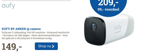 EUFY BY ANKER ip camera