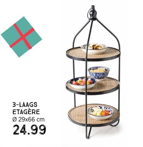 3-laags etagere