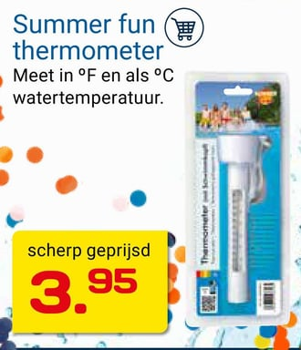 Summer fun thermometer