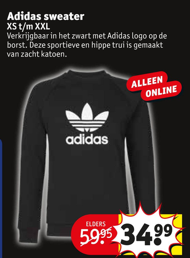 Adidas sweater folder aanbieding