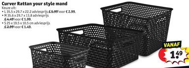 Curver Rattan your style mand