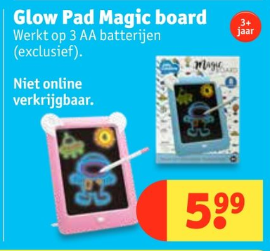 Glow Pad Magic board