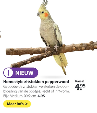 Homestyle zitstokken pepperwood
