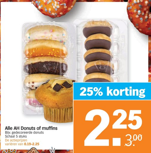 Alle AH Donuts of muffins