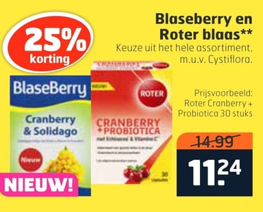 Blaseberry en Roter blags