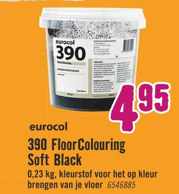 eurocol 390 Floor Colouring Soft Black