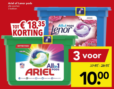 Ariel of Lenor pods