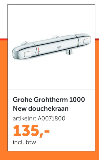 Grohe Grohtherm 1000 New douchekraan