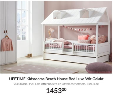 Kidsrooms Beach House Bed Luxe Wit Gelakt